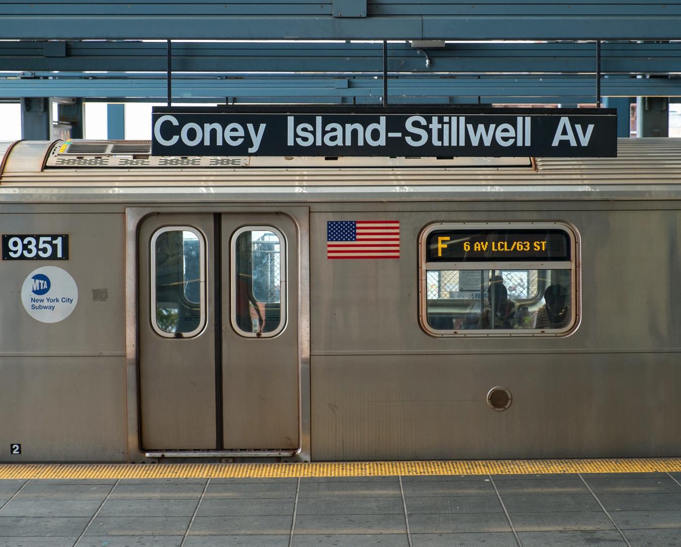 Local F Train in Coney Island