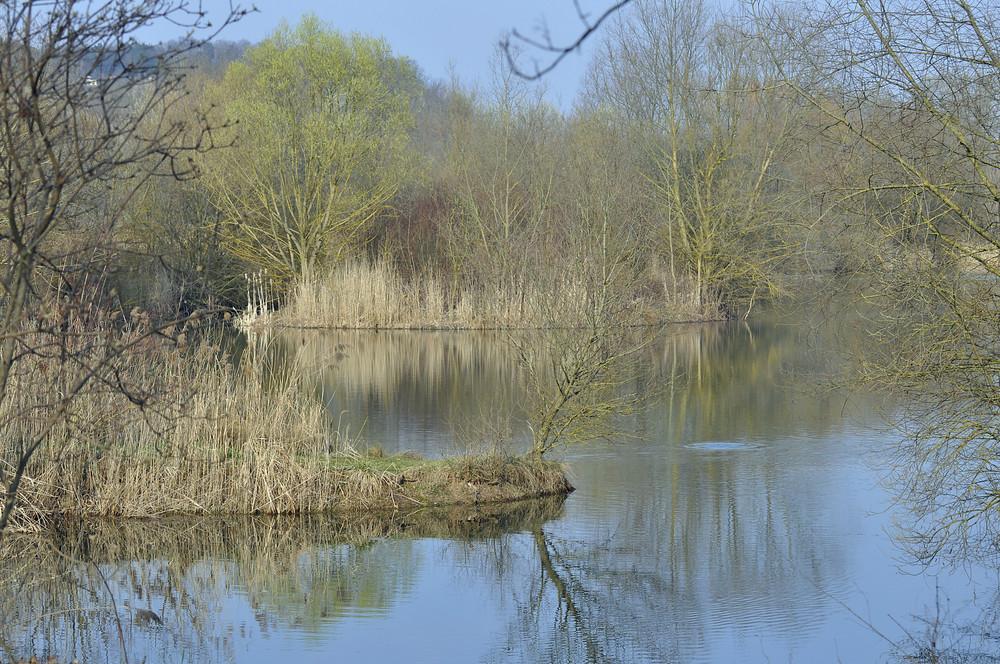 Loch im See
