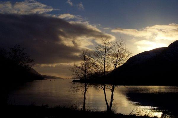 Loch Lochy (das heißt wirklich so!) Schottland, Abendstimmung
