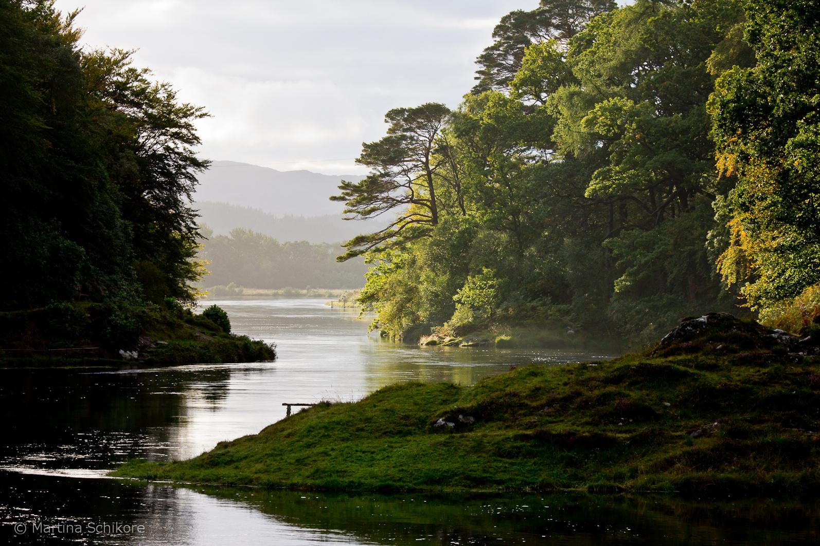 Loch Moidard in den Highlands von Schottland
