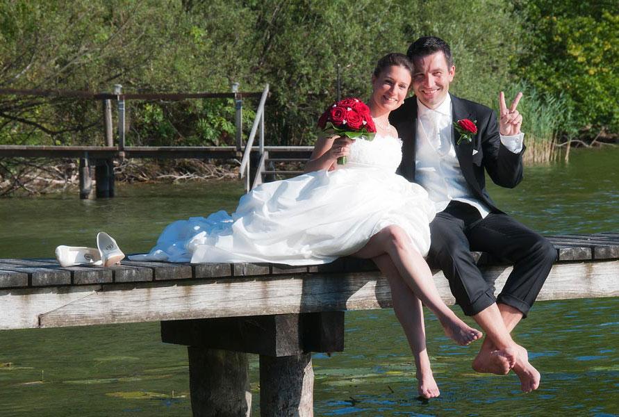 Lockeres Hochzeits-Shooting