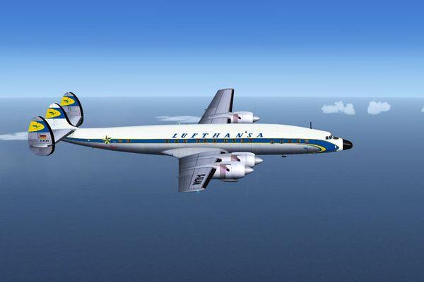 Lockheed L1649A der Lufthansa vor Shannon, Ireland