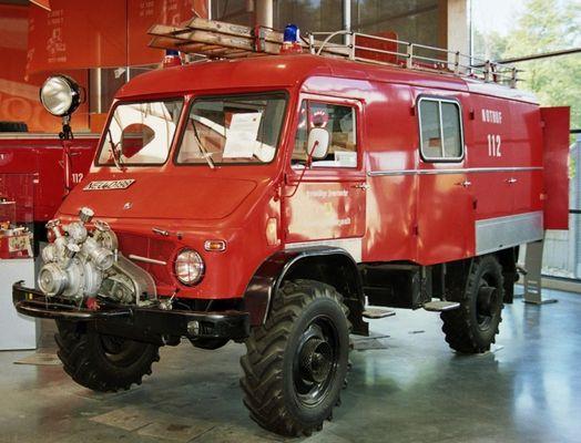 Löschgruppenfahrzeug 8 auf Unimog Basis / Baujahr ca. Anfang 1960