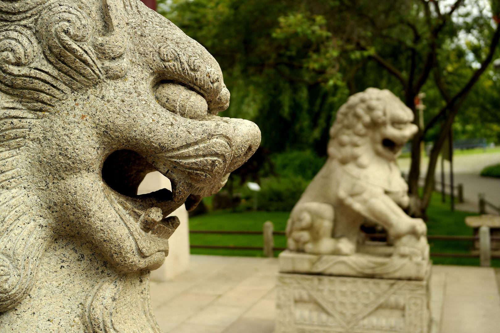 Löwenstatue