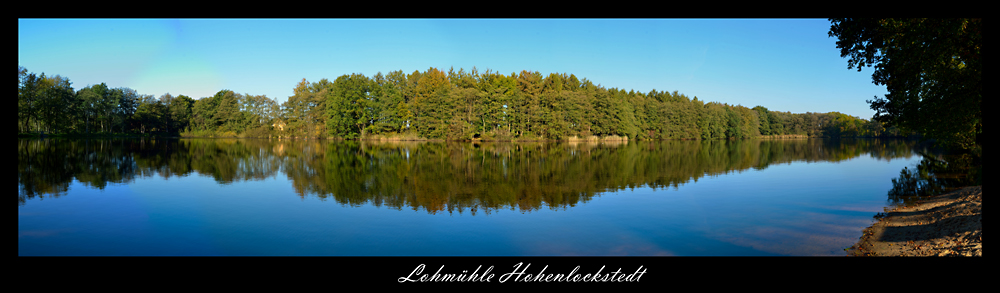 Lohmühlenteich Hohenlockstedt Panorama
