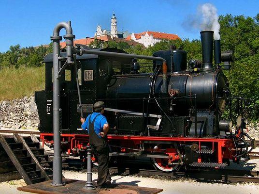Lok 12 der Härtsfeldbahn