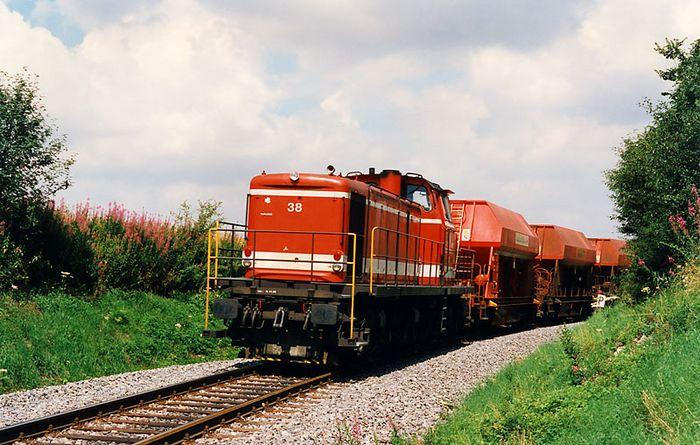 Lok 38 kurz vor dem Brechpunkt