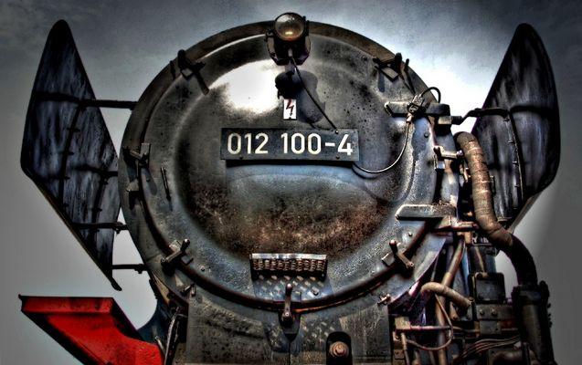 Lokomotive 012 100-4 in Flensburg - Dampfrundum 2007