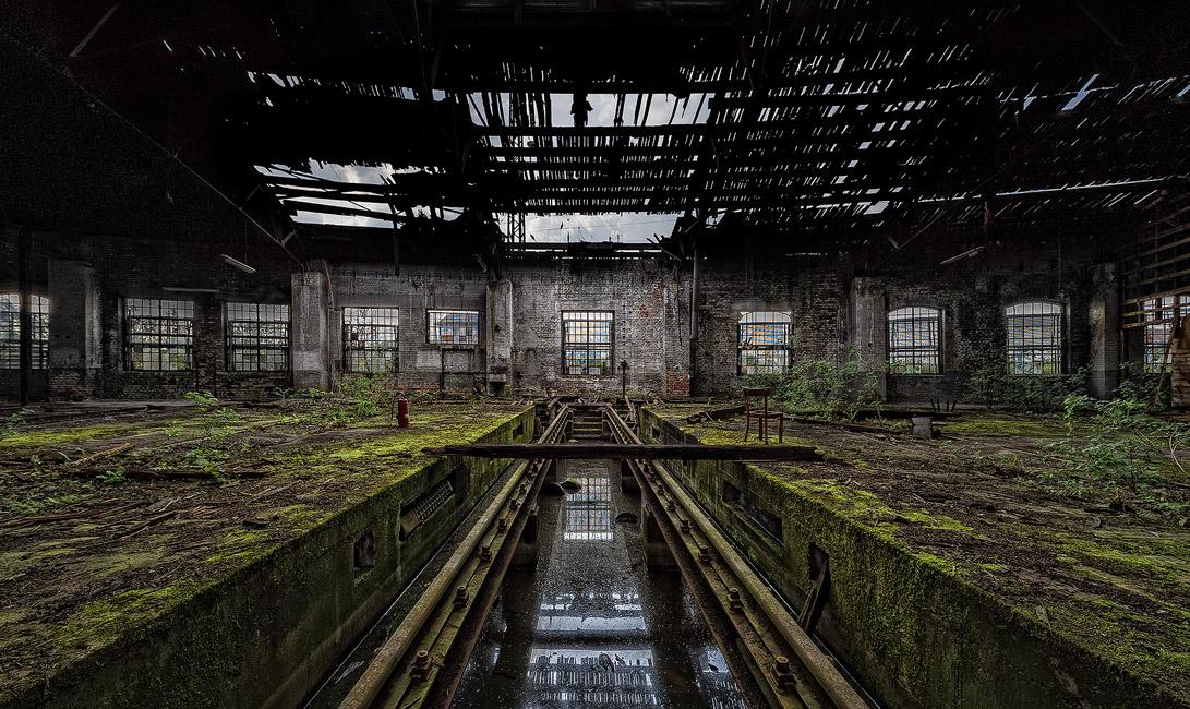 Lokschuppen Gießen - der verfallene Bereich
