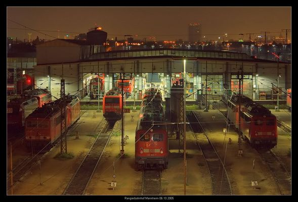 Lokschuppen Rangierbahnhof Mannheim