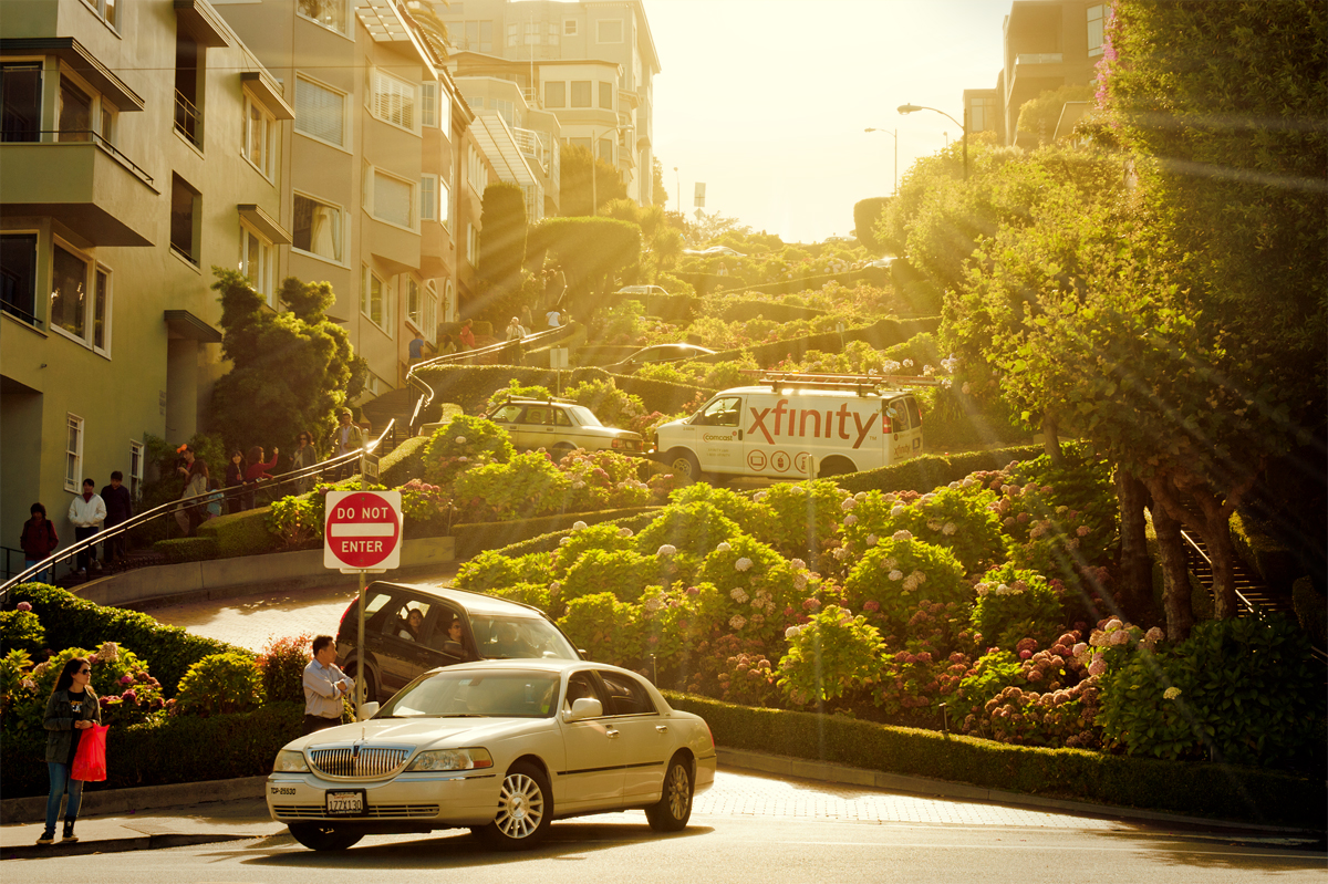 Lombard Street früh am Morgen
