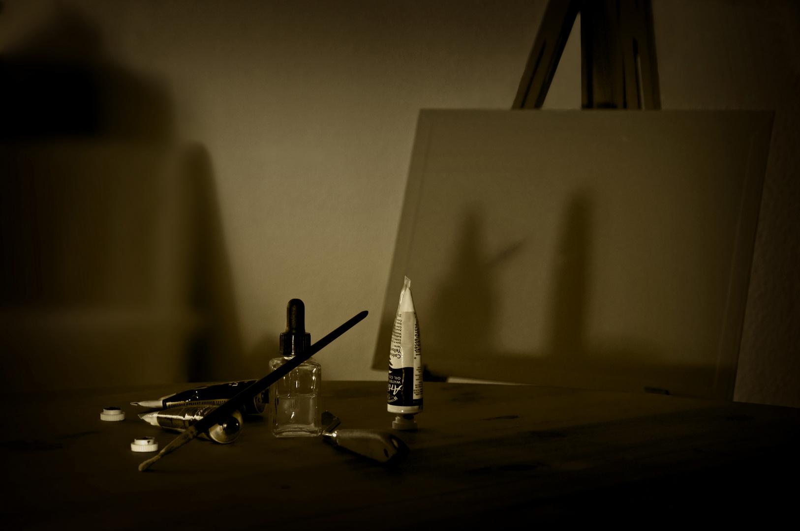 L'ombre qui peint - Der Schatten der malt