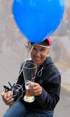 Lona beim Radrennen 2