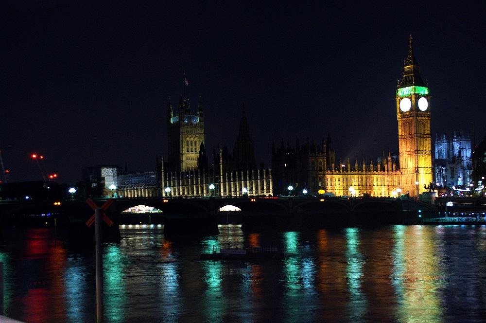 London bei Nacht, mit dem großen Ben