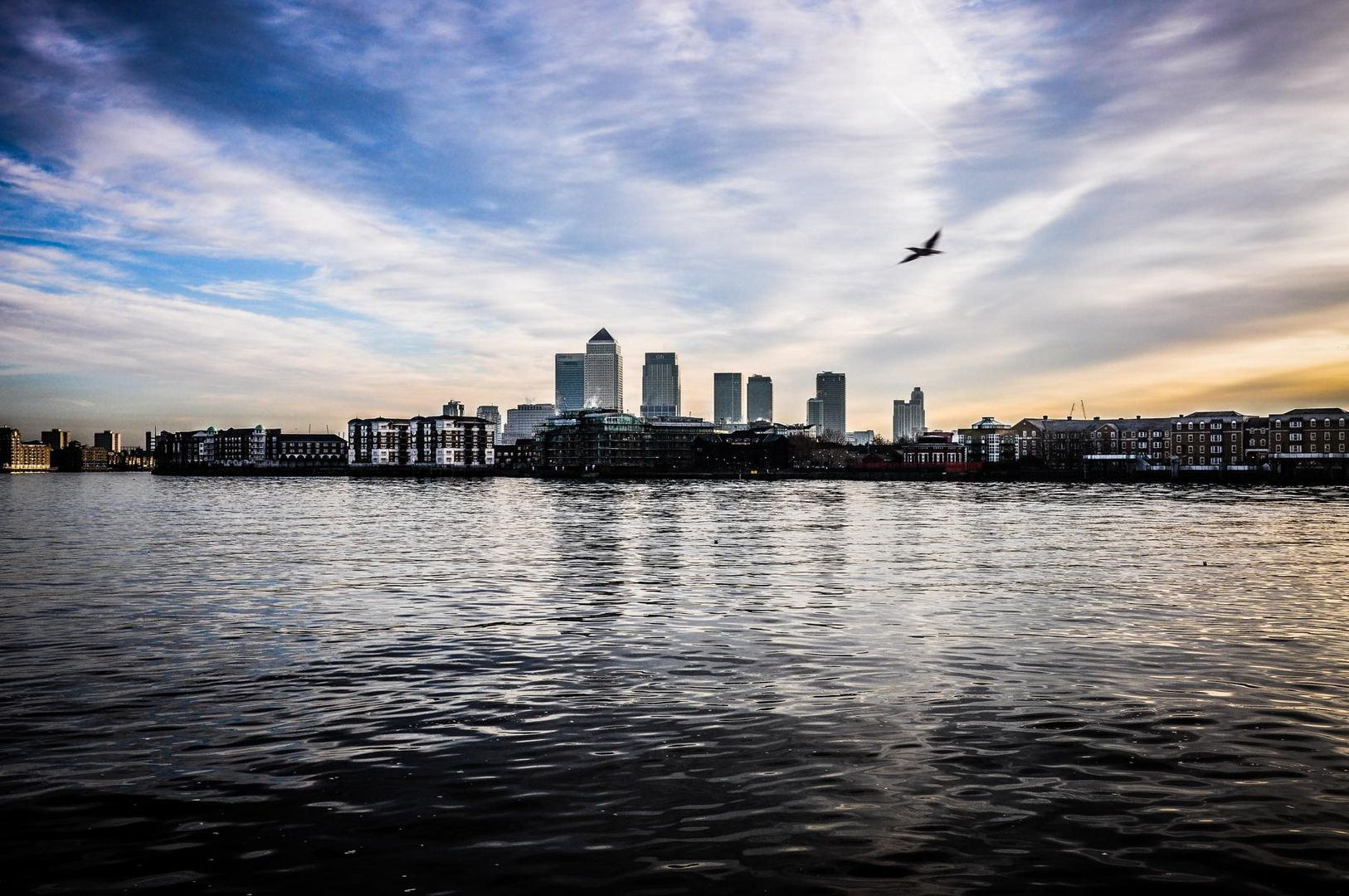 London Docklands im Morgengrauen