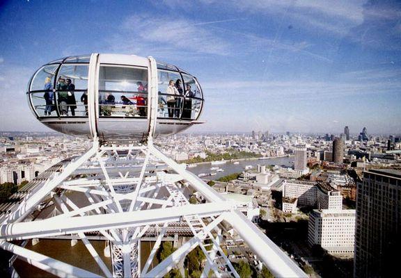 London-Eye and Blue Sky