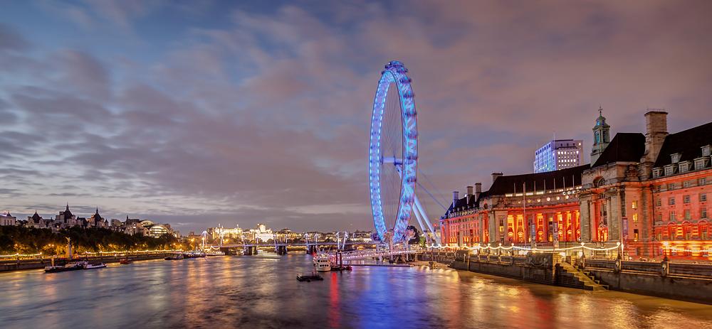 London Eye at Night / Einladung zum Fotokurs