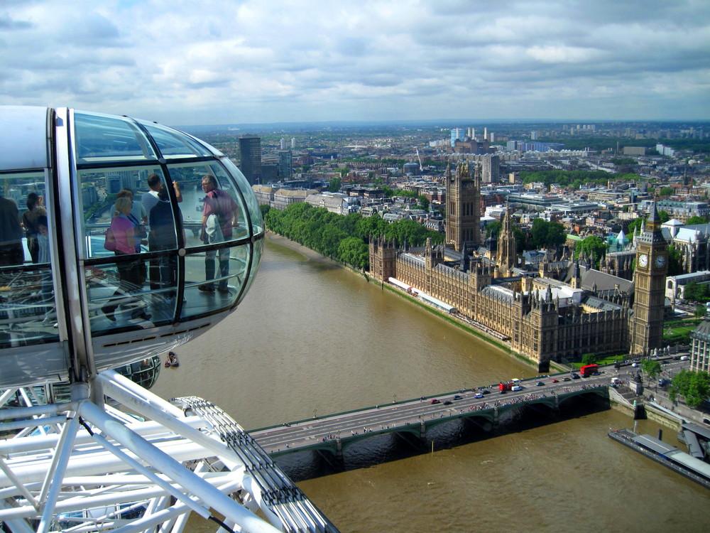 London Eye Ausblick
