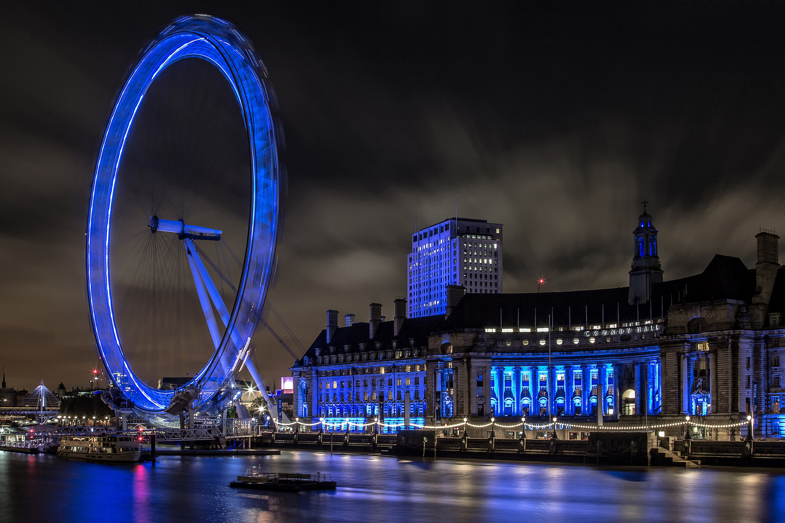 London Eye bei Nacht