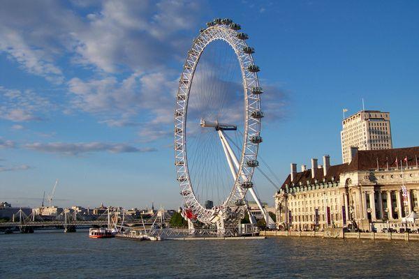 London-Eye im Abendlicht