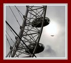 London Eye with a fly