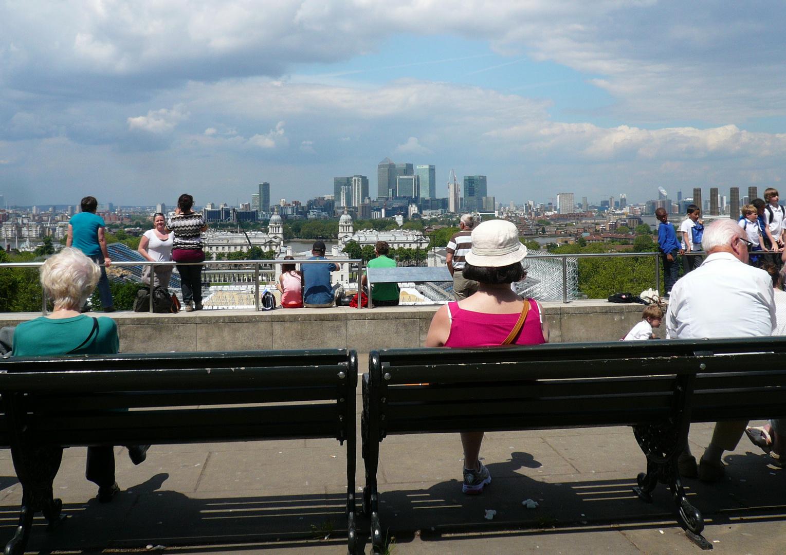 London // Greenwich - Blick auf Dockland
