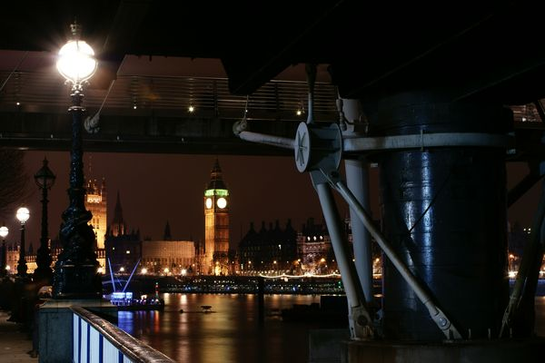 London, Hungerford Bridge