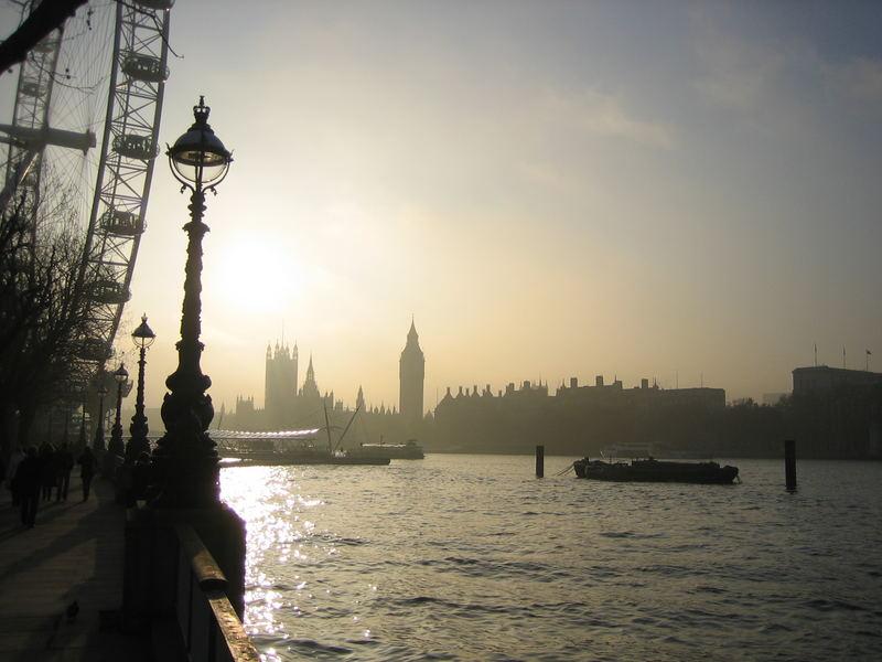 London im Weihnachtsnebel 2006