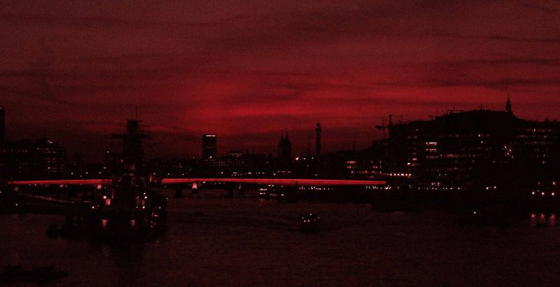 London in red