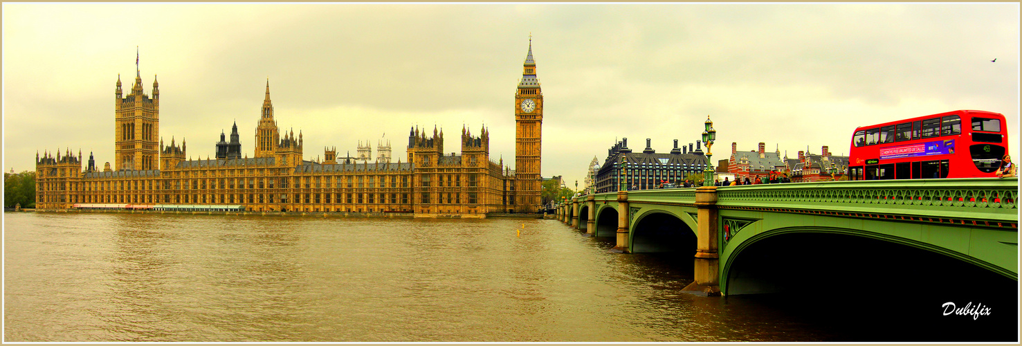 London - Parliament und Westminster Bridge