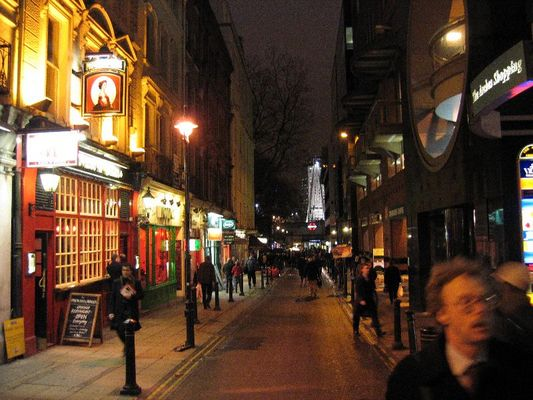 London street by night
