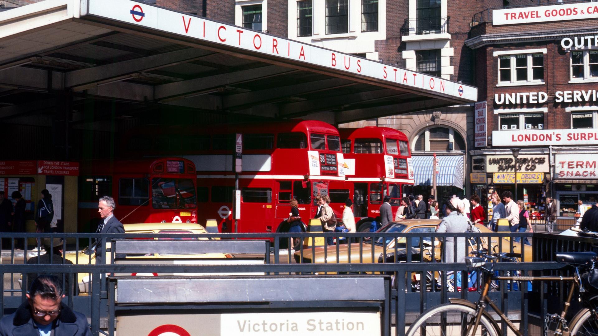 London Victoria Bus Station 1981