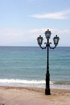 Lonely lamp at Beach - Chalkidiki