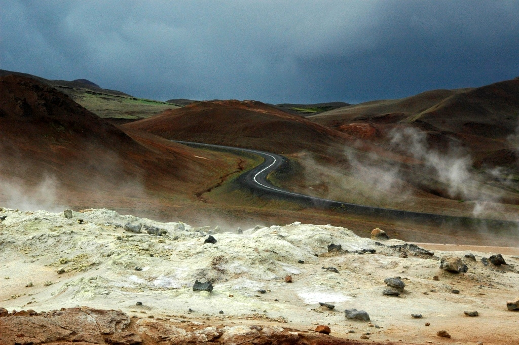 lonely road on iceland