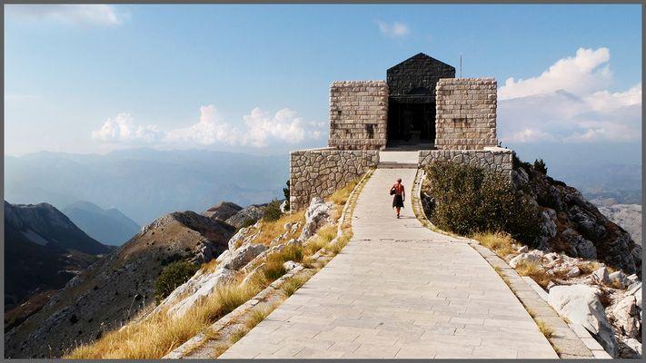 Lonely walk to Njegos' Mausoleum
