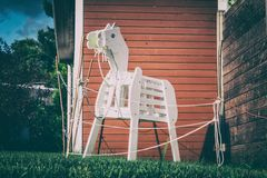 lonely wooden horse