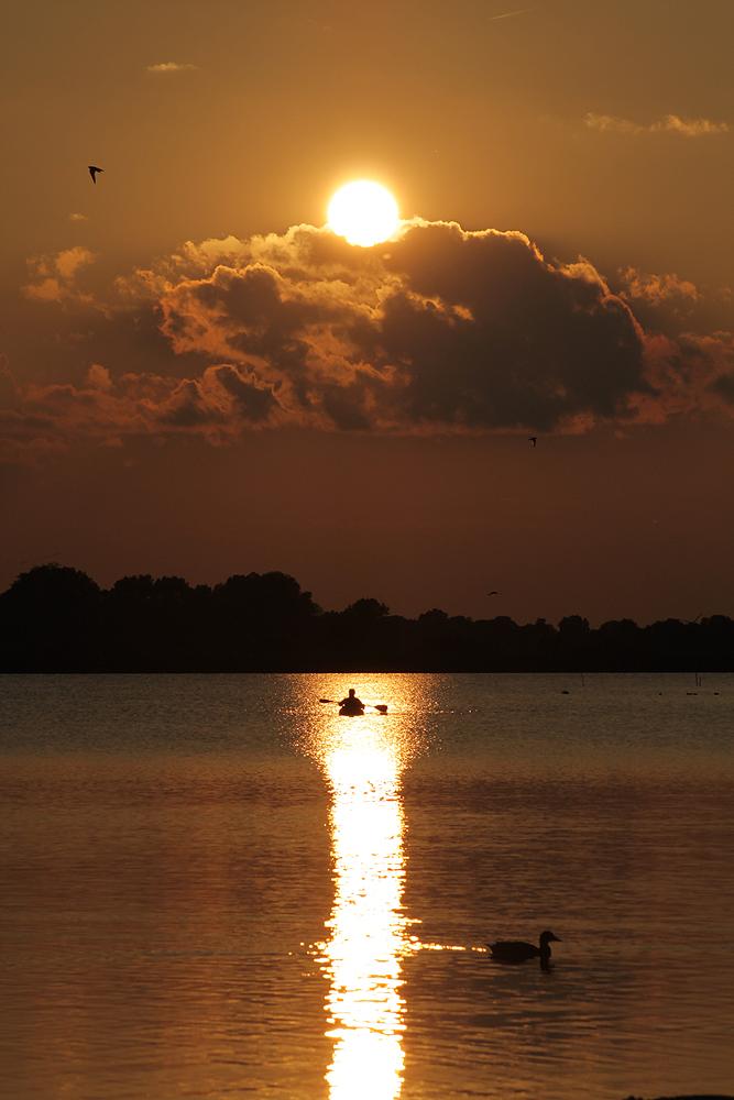 lonesome canoeist