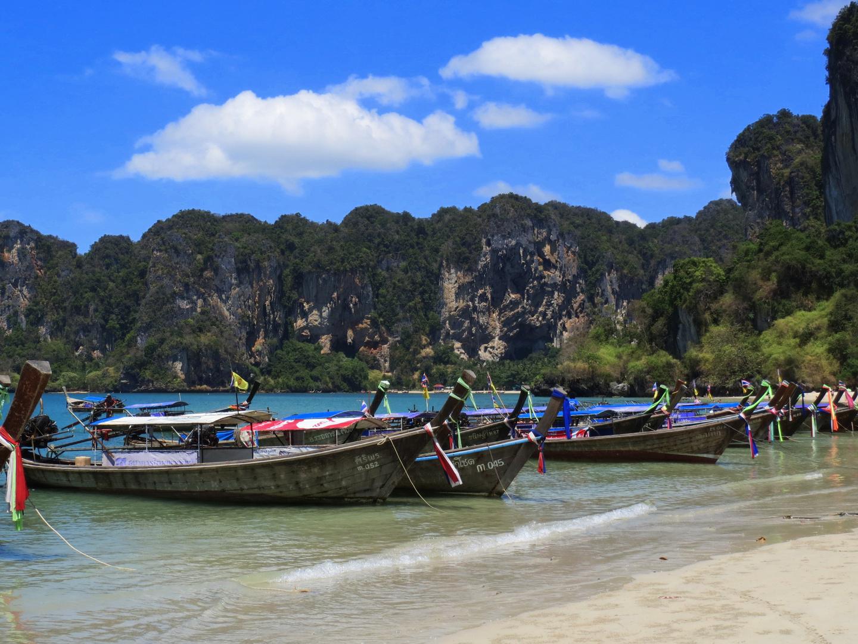 Long Tail Boats in Krabi