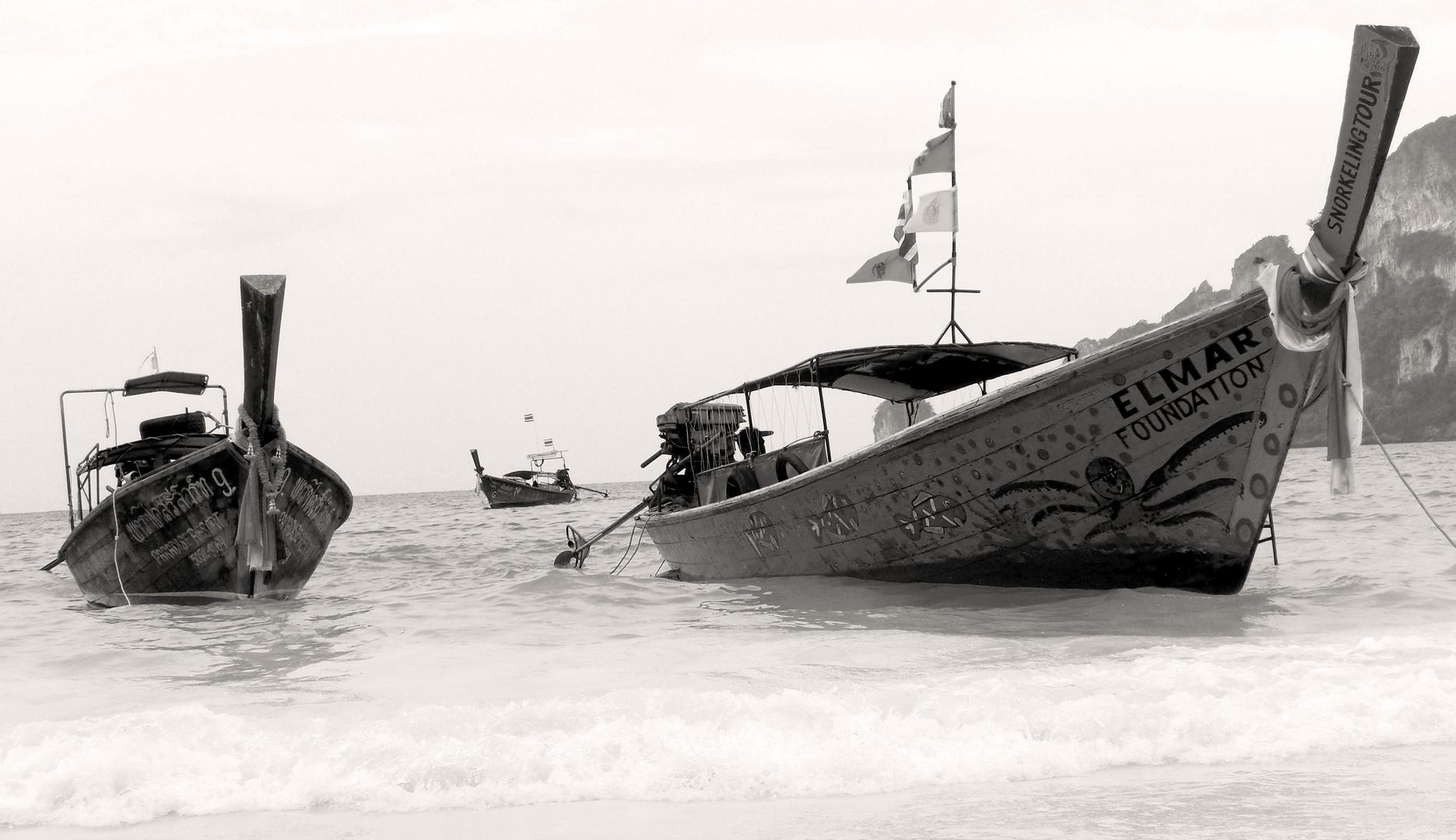 Longboat auf Kho Phi Phi