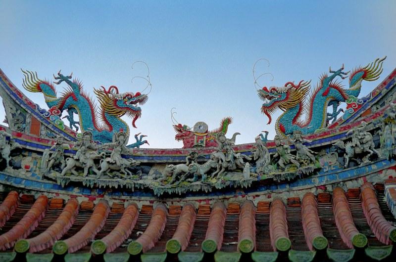 Longshan Tempel Taipei Dachdetail