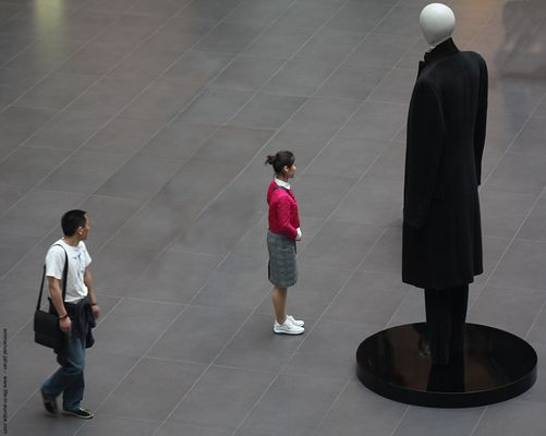 looking at (in Shanghai)