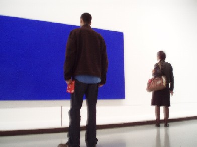 Looking at Yves Klein, happiness