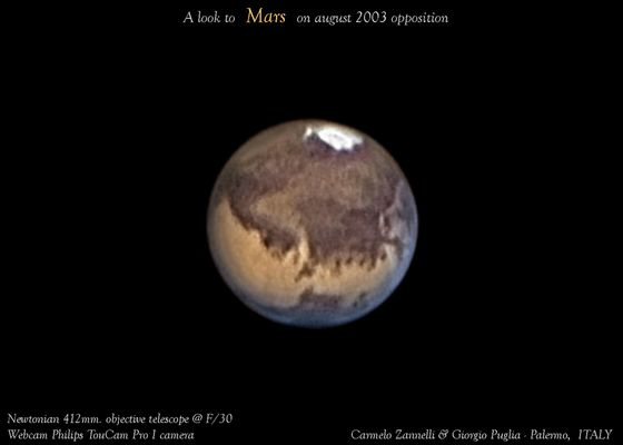 Looking opposition of Mars in 2003