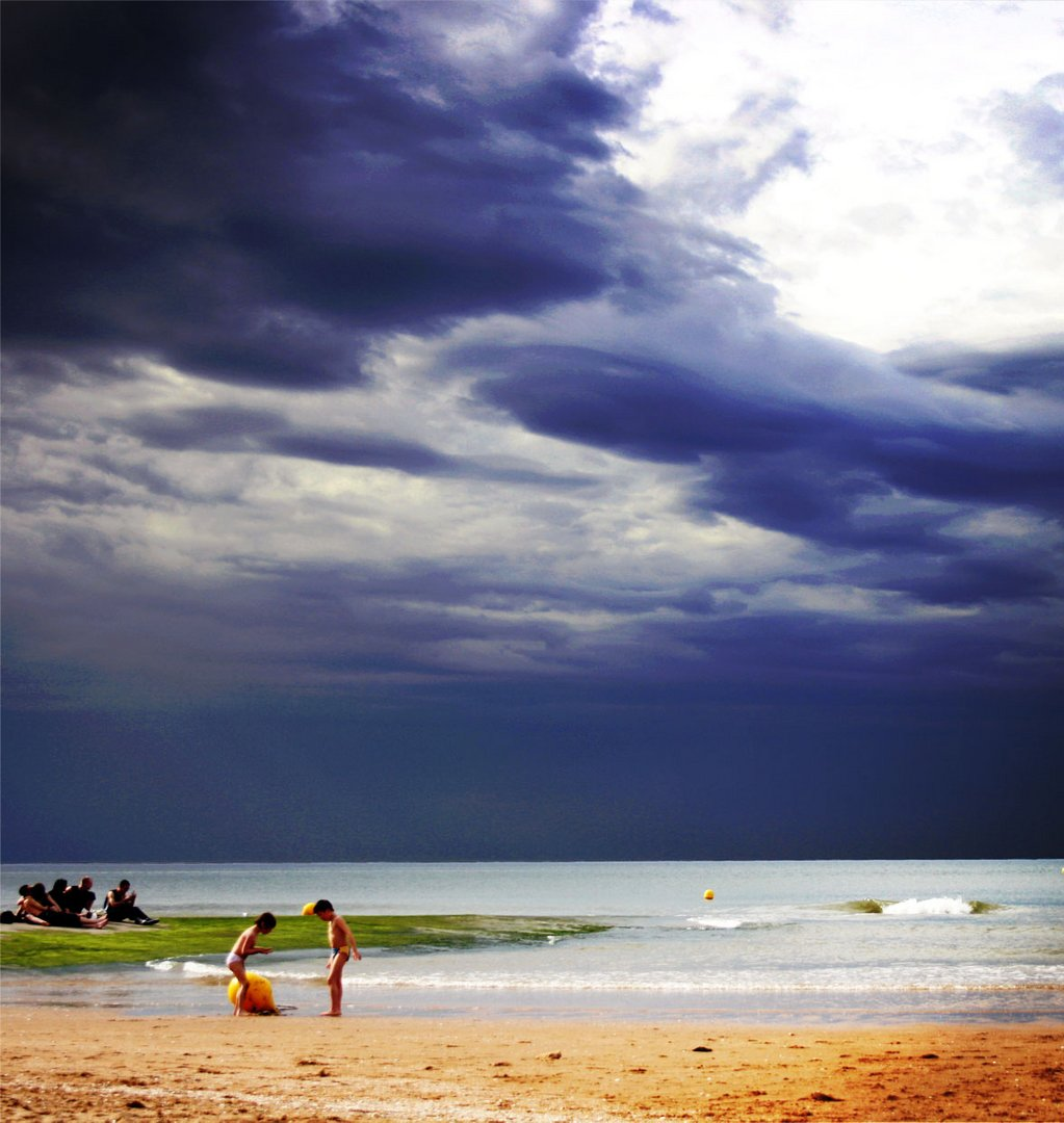 L'orage arrive.