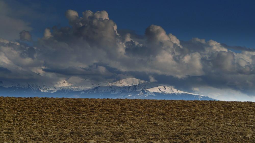 l'orage passe sur la montagne ariégeoise