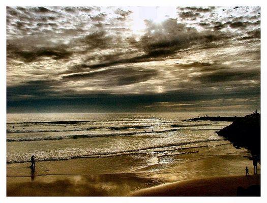 L`orage s`approche Costa de Caparica Portugal