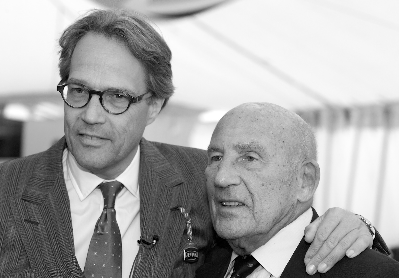 Lord March and Sir Stirling Moss,, Goodwood 2011