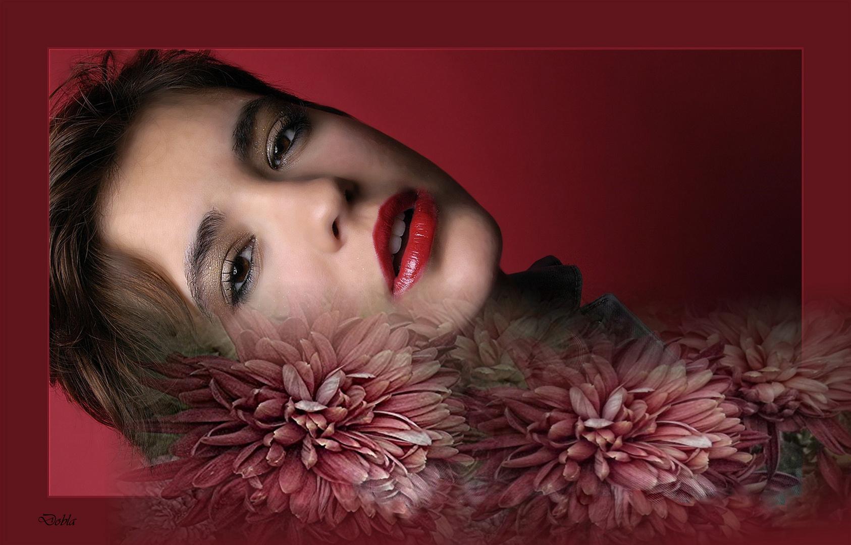 Lorena 002 con flores de Alfredo Yanez