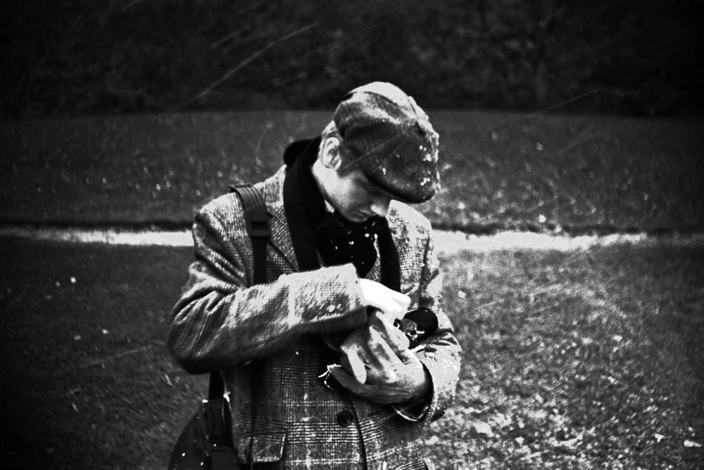 Lorenz Bögle (auf der Suche nach Schnee)