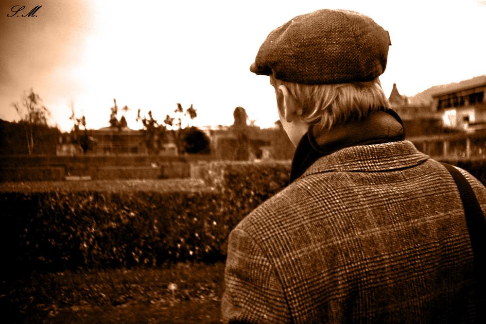 Lorenz Bögle im Rosengarten